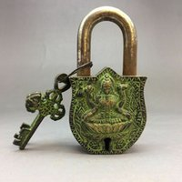 Wholesale chinese bronze sculptures resale online - Rare Ancient Chinese Bronze Buddha Sculptures Locks And Keys Exquisite Small Statues