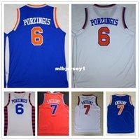 faculdade rápida venda por atacado-Costurado kp Jersey 2016 Nova Branco # 6 kp Basketball Jersey kp Camisa Transporte Rápido Ncaa College