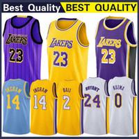 3935cd033 Los Angeles 23 LeBron Jersey James Lakers Jerseys Ingram 14 Brandon Bryant  24 Kobe Youth Kids City vest Kuzma 0 Kyle Ball 2 Lonzo Athletic