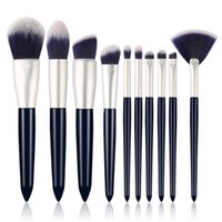 порошковая макияж бровей оптовых-Новый набор кисточек для макияжа 10шт. Высококачественные профессиональные кисти для макияжа. Пудра для бровей.