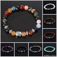 Wholesale indian buddha charms resale online - Mens Bracelets Luxury Jewelry Bead Natural Beautiful Jewelry Cheap Anchor Beaded Buddha Bracelets For Men Women Buddha Lava Chakra Bracelet