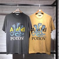 en kaliteli pamuklu tişörtler toptan satış-Kadın Erkek Pamuk T gömlek Cobras Baskılı tees Hiphop Streetwear Erkekler Kısa Kollu T-shirt Yaz Tarzı En Iyi Kalite
