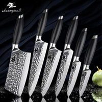 Wholesale chef cooking tools for sale - Group buy 7 inch Kitchen Knives Layer C Forged Steel Chef Knife Fruit Slicing Cleaver Knife With G10 Handle Cook Tool