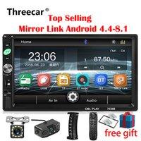 ruban adhésif achat en gros de-2din voiture radio 7 pouce tactile mirrorlink Android joueur subwoofer MP5 lecteur autoradio Bluetooth vue arrière caméra enregistreur de bande dvd de voiture