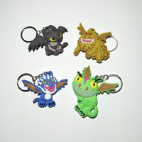 Wholesale anime dragons resale online - Cute Cartoon Anime Character Keychain Classic Toothless Skull Gronckle Deadly Dragon How To Train Your Dragon Pedant Toy TTA381