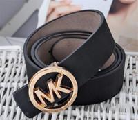 Wholesale vintage leather jeans belt mens online - 2019 Mk Brand Designer Luxury Belts For Mens Women Genuine Leather Belt Male Women Jeans Vintage Fashion High Quality Strap