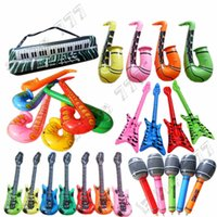 Wholesale keyboard guitars for sale - Group buy Hottest PVC inflatable toy inflatable instrument guitar bass radio saxophone microphone keyboard inflatable toy children s toys