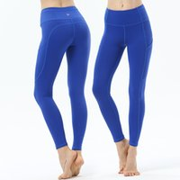 Wholesale bodybuilding yoga pants for sale - Group buy 2019 New Pattern Yoga Serve Lu Pocket Speed Do Bodybuilding Yoga Pants Woman Close Ventilation Elasticity Motion Pants