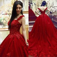 Wholesale champagne color beaded dresses for sale - Group buy New Sweet Quinceanera Dress Ball Gown Lace D Floral Appliques Beaded Masquerade Puffy Long Prom Evening Formal Wear Vestidos