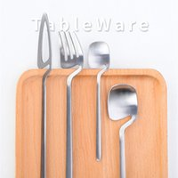 Wholesale color forks for sale - Group buy 4pcs Creative Hanging Tableware Set Color Stainless Steel Spoon Knife Fork Cutlery Set Western Dinnerware Set Kitchen Accessories