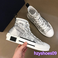 Wholesale high heel boots mens resale online - Best quality B23 Oblique designer mens shoes womens High top Sneakers Flowers Obliques Tess Technical Leather SS Trainer Sneakers boots