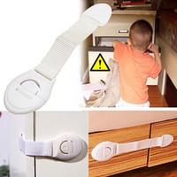 Wholesale cupboard safety locks resale online - Fashion Latch Cabinet Cupboard Door Drawers Children Kids Baby Safety Locks