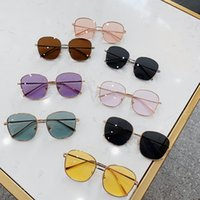 Wholesale Sun Glasses Retro Square Lens Kids Sunglasses Metal Frame Boys Girls Eyeglasses Fashion Children Glasses Outdoor Accessories Colors DW5327