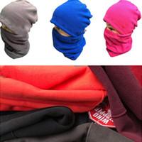 Wholesale skull neck scarf resale online - Winter Men Women Beanies Polar Scarves set Outdoor Cycling Windproof Fleece Skull Cap Neck Scarf Suit Collar Neckerchief Hats C101506