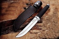 Wholesale knife fix blade cold steel for sale - Group buy High Quality New OEM Cold Steel Outdoor Man Survival Straight Knife VG1 San Mai Steel Drop Point Satin Blade Knives With Leather Sheath
