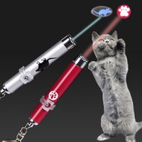Wholesale pointer pet resale online - Cartoon Animal Laser Pointer Pen Funny Cat Pet LED Infrared Pens Long Lasting Brightness Aluminum Tube Traning Tools AAA2255