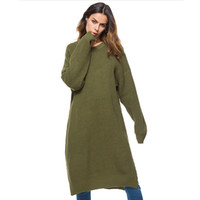 Wholesale knitting clothes for women for sale - Big Sizes Korean Knitted Dress For Women Long Sleeve Pullover Sweater Tunic Streetwear Fashion Female Clothes Autumn Winter