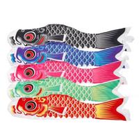 ingrosso bandiera giapponese-Nuovo arrivo Carp Flag colorato stampa delicato vento poliestere pesce bandiera bandiere in stile giapponese decorazioni della festa nuziale 35 ml E1