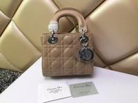 bolsos de piel de cordero al por mayor-2019 Marca Lady Plaid Mini Messenger Bag diseñador Charol 5 Plaid Handbag Lambskin with Charms Miss Chain Bag