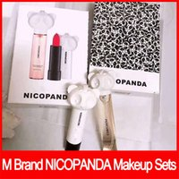 Wholesale 2018 Famous lip makeup M Brand NICOPANDA Makeup Sets Matte rouge a levre Lipstick Perfume in Make Up Set