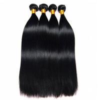 doğal remy insan saç uzantıları toptan satış-Leila 10A Perulu Düz saç uzantıları Demetleri 100% İnsan Saç Demetleri Olmayan Remy Saç Örgü Uzantıları Doğal Renk 1/4 adet Satın Alabilirsiniz