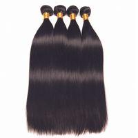 ingrosso estensioni remy naturali dei capelli umani-Leila 10A peruviana corpo dritto fasci di capelli sciolti fasci di capelli umani 100% non remy tessere capelli estensioni colore naturale può acquistare 1/4 pezzi