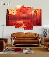 große druckwandkunst groihandel-4Picture Unframed Large Modern Printed Oil Painting Picture Cuadros Decoration Canvas Wall Art For Living Room Beautiful Filed Posters