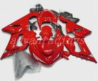 zx6r personalizado al por mayor-4 regalos Nueva moto motocicleta ABS carenados kits aptos para la Kawasaki Ninja ZX6R 636 2005 2006 05 06 6R kits de 600cc carenado de encargo red
