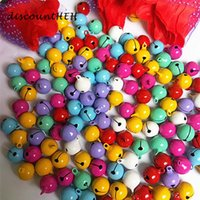 Wholesale 14mm copper beads resale online - 10 Cute Fashion mm Copper Jingle Bells Loose Beads Pendants Hanging Christmas Decorations Party DIY Crafts Accessories
