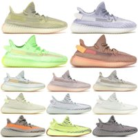 Wholesale mens running shoes free shipping for sale - Group buy With box Static Clay Sesame Sports Sneakers Kanye West Beluga ellow Real BASF Mens Running Shoes Women Sneakers