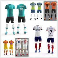 Wholesale numbered soccer jersey sets for sale - Group buy 2019 Rushed Boys Football Jerseys Clothing Set For Children Customize Number Spandex Kids Soccer Uniform sport wear Uniforms Tracksuit