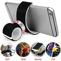 havalandırma delikli cep telefonu tutacağı toptan satış-360 Derece Hava Firar Dağı Bisiklet Araba Cep Telefonu Tutucu Için 3.5-6.0 inç Telefon