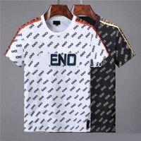 etiketten großhandel-FENs kurzärmeliges europäisches italienisches Medusa-Label T-Shirt Mode für Männer T-Shirt lässiges Baumwoll-T-Shirt Top Herrenmarke Short sl