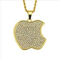 подвеска с бриллиантовой формой оптовых-Новые европейские и американские модные тенденции хип-хоп-стрит кулон ожерелье мужская личность ювелирные изделия с бриллиантами формы