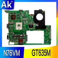 Wholesale laptop motherboards for asus for sale - AK N76VM Laptop motherboard for ASUS N76VM N76VZ N76VJ N76V Test original mainboard GT630M M