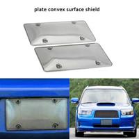 escudos de bolha venda por atacado-2 PCS / SET Limpar Car Placa de Licença Quadro Escudos Placa de Licença Bolha Escudos Proteção UV Evita J3