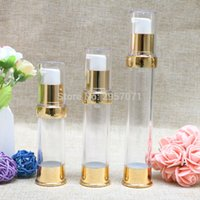 Wholesale airless cosmetic bottles for sale - Group buy 15ml ml Frosted Airless Pump bottle Transparent Lid Cosmetic Containerfor serum lotion foundation gel emulsion packing