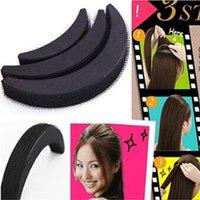 ingrosso nuovo creatore di panini-NUOVO 3 Dimensioni / Set Spugna Hair Maker Styling Twist Panino magico Base per capelli Bump Styling Inserisci strumento Volume Forcine G0313