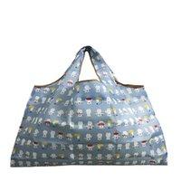 eco tragetaschen shopper großhandel-Bolsa Compra Wiederverwendbare Einkaufstasche New Women's Foldaway Shopper Bags Damen Wiederverwendbare Einkaufstasche Eco Tote Bag Hohe Qualität Beliebt