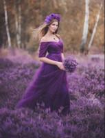púrpura azul vestidos de dama de tul al por mayor-2019 Venta Caliente Púrpura Rojo Vestidos de dama de honor Satén Tul A-line Royal Blue Sin Mangas Banquete de Boda Fiesta de Baile Vestidos de Fiesta Vestido J190623