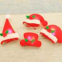Wholesale party top hat decorations resale online - 20 Top Hat Bobby Pin for Christmas Party Shine Decoration Navidad Lightening Hair Pin Christmas Girls Costume Supplies