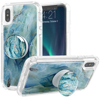 Wholesale full bumper for sale – best For Iphone Xr Case Luxury Marble Full Body Protection Bumper Rugged Non Slip Protective Case with Holder For Iphone Xr Xs Max