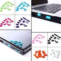 toz tapası ayarı toptan satış-13 Adet / takım Silikon Anti Toz 13 Fiş Kapak Seti Stoper 13 adet Laptop anti toz dizüstü toz geçirmez fiş usb toz fiş 9 renkler