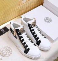imagem de couro venda por atacado-2018 novo designer de imagem venda quente sapatos de couro da marca mulheres tênis de grife homens corredores sapatos sapatos da moda espessamento botas # 020