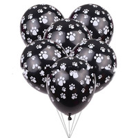 Wholesale balloon decorating resale online - Dogs Claw Printing Balloon Inches Child Birthday Decorate Airballoon Latex Balloons Black White New Arrival xt C1