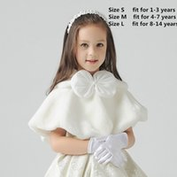 Wholesale bolero white fur capes for sale - Group buy White Flower Girls Wedding Party Wraps In Stock Cheap Faux Fur Fall Winter Capes Shrugs Shawls Boleros Hot