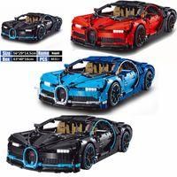 bina otomobil oyuncak toptan satış-Logolama 20086 Teknik Araba Bugatti Yapı Taşları Kitleri Legoing Şehir Araba 42083 4031 adet Süper Araba Yarışı Oyuncaklar Çocuklar Için hediye