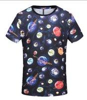 ropa de diseño clásico al por mayor-Nueva marca de diseñador Camiseta para hombre Camiseta de lujo Europa Moda Classic Galaxy star Camiseta de algodón Ropa casual Camiseta Tops 2019 primavera verano