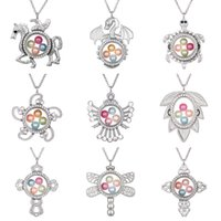 Wholesale lockets online - Silver Dragon Turtle Pegasus Living Memory mm Pearl Beads Magnetic Glass Floating Locket Pendant Necklace Pearl Cage Locket Charms
