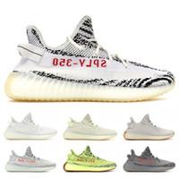 Wholesale new football shoes for sale - Designer SPLY V2 Kanye West New Butter Sesame Cream White Blue Tint Beluga Black Red Bred Mens Running Shoes